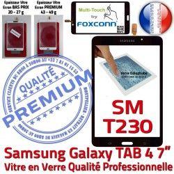 Ecran Noire 7 LCD PREMIUM N Verre inch Prémonté SM-T230 Samsung Galaxy Assemblée Tactile TAB4 Qualité Vitre Supérieure Adhésif