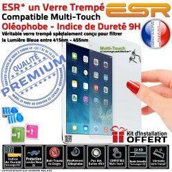 Vitre Verre Protection Oléophobe iPad Anti-Rayures Bleue Ecran Filtre Trempé ESR Chocs UV Apple AIR Lumière Multi-Touch H A1566