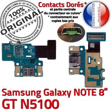 Samsung Galaxy NOTE GT-N5100 C Contacts Chargeur Réparation Doré Connecteur Micro USB Nappe Qualité ORIGINAL GT de OFFICIELLE N5100 Charge