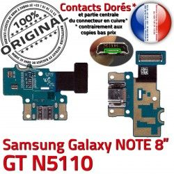 GT USB de Nappe Charge Chargeur OFFICIELLE GT-N5110 Doré ORIGINAL Qualité Samsung N5110 C Micro NOTE Contacts Connecteur Réparation Galaxy