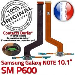 de Nappe Samsung MicroUSB Qualité Réparation Galaxy Connecteur SM P600 SM-P600 Doré C NOTE ORIGINAL Charge Pen Chargeur OFFICIELLE Contact