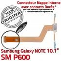 SM-P600 Micro USB NOTE Charge ORIGINAL Samsung Pen de Contact Doré Réparation Qualité Nappe Chargeur Galaxy OFFICIELLE SM P600 MicroUSB Connecteur