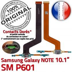 Chargeur USB de Pen P601 Contact Connecteur SM MicroUSB Samsung Doré Qualité Nappe Réparation SM-P601 OFFICIELLE Galaxy Micro ORIGINAL Charge NOTE