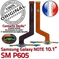 Pen USB SM ORIGINAL P605 de SM-P605 Galaxy Qualité MicroUSB Chargeur Réparation NOTE Micro OFFICIELLE Connecteur Doré Charge Contact Samsung Nappe