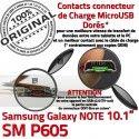 Samsung Galaxy NOTE SM-P605 C Connecteur Chargeur Réparation Doré Qualité P605 de Charge MicroUSB Nappe ORIGINAL OFFICIELLE SM Contacts