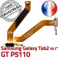 TAB Chargeur MicroUSB GT TAB2 Contacts ORIGINAL Charge Ch GT-P5110 Nappe Galaxy P5110 de Dorés Réparation Qualité 2 OFFICIELLE Connecteur Samsung