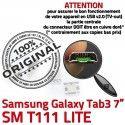 Samsung Galaxy Tab 3 T111 USB inch Prise Chargeur Micro Pins Dock SM Dorés ORIGINAL Connecteur Connector souder 7 à de charge TAB