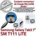 Samsung Galaxy Tab3 SM-T111 USB de Pins Prise TAB3 Dock SLOT MicroUSB à charge Qualité ORIGINAL Chargeur Dorés Fiche souder Connector