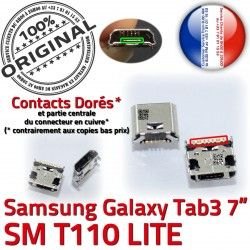 USB Chargeur ORIGINAL Qualité souder TAB3 Prise de SM-T110 Dock Pins Tab3 MicroUSB charge Connector Fiche Dorés SLOT à Galaxy Samsung