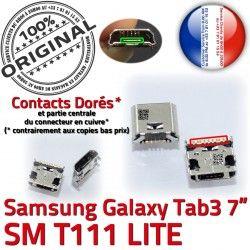 TAB de Tab charge souder Micro inch Dock ORIGINAL SM Chargeur Pins Connector Connecteur 3 à Dorés Prise T111 Samsung 7 Galaxy USB