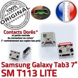 Connector charge USB Micro TAB Dorés T113 Dock Tab Prise Chargeur 3 inch de 7 SM Pins ORIGINAL Connecteur Samsung Galaxy souder à