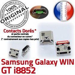 Pins Chargeur Galaxy ORIGINAL USB de charge Dorés Samsung Dock Connector souder GT Connecteur Qualité Micro Win i8852 Prise à