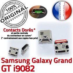 Qualité USB Galaxy i9082 Dorés Connecteur à GT Chargeur Prise Grand Micro charge de souder Samsung Connector Pins Dock ORIGINAL
