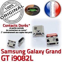 à charge de GT Grand ORIGINAL Connector Samsung Galaxy Pins Dock i9082L Chargeur USB Dorés Micro Qualité Connecteur souder Prise