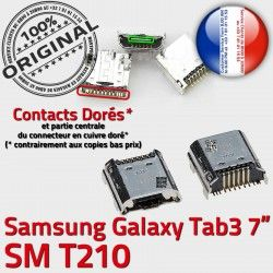7 Galaxy Dock SM Connecteur inch T210 TAB Pins Chargeur Connector USB Prise 3 Micro charge Samsung Tab souder de ORIGINAL Dorés à