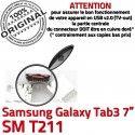 Samsung Galaxy Tab 3 T211 USB Connector Dock SM Connecteur inch 7 souder Micro Chargeur de ORIGINAL TAB à Pins Prise charge Dorés