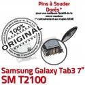 Samsung Galaxy Tab 3 T2100 USB 7 charge Dock souder à ORIGINAL Dorés Connector de Pins inch SM TAB Micro Chargeur Connecteur Prise