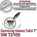 Samsung Galaxy Tab 3 T2105 USB charge souder Prise Pins 7 inch SM Dorés ORIGINAL Micro Connector Chargeur Connecteur Dock à TAB de