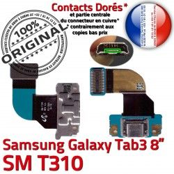 T310 SM 3 Dorés Qualité Ch Charge ORIGINAL de TAB TAB3 MicroUSB Nappe Contacts Galaxy SM-T310 Samsung Connecteur Réparation Chargeur OFFICIELLE