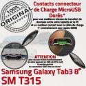 Samsung Galaxy TAB 3 SM-T315 Ch Nappe ORIGINAL Qualité Contacts Connecteur OFFICIELLE Chargeur Charge de MicroUSB TAB3 Réparation Dorés