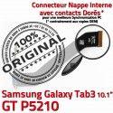 GT-P5210 Micro USB TAB3 Charge Dorés Samsung 3 GT Connecteur Nappe ORIGINAL OFFICIELLE Galaxy Chargeur Contacts P5210 de Réparation Qualité MicroUSB TAB