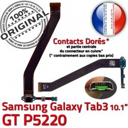 ORIGINAL TAB Contacts GT-P5220 P5220 Réparation Ch Dorés Galaxy TAB3 Charge Samsung Nappe OFFICIELLE MicroUSB GT Connecteur 3 Qualité de Chargeur