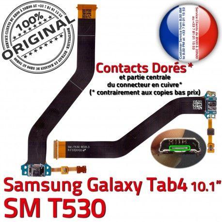 Samsung Galaxy SM-T530 TAB4 Ch de SM Chargeur T530 Contacts MicroUSB Réparation Dorés TAB ORIGINAL Charge Connecteur OFFICIELLE Nappe Qualité 4
