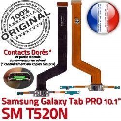 Qualité TAB Galaxy de Nappe OFFICIELLE ORIGINAL Chargeur Doré MicroUSB Micro SM T520N Samsung USB SM-T520N Réparation C Contact Charge PRO Connecteur