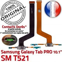 TAB OFFICIELLE Réparation ORIGINAL Galaxy Doré Connecteur Micro USB Contact Qualité T521 PRO C MicroUSB Samsung Charge Chargeur SM SM-T521 Nappe de