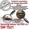 SM-T521 Micro USB TAB PRO C Connecteur ORIGINAL Qualité MicroUSB Chargeur Galaxy Charge de T521 Nappe OFFICIELLE Samsung Réparation Contact Doré SM