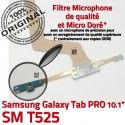 Samsung Galaxy TAB PRO SM-T525 C de Charge Qualité ORIGINAL Chargeur Nappe SM Doré Contact Réparation Connecteur MicroUSB T525 OFFICIELLE