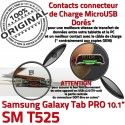 SM-T525 Micro USB TAB PRO C Réparation Doré ORIGINAL MicroUSB OFFICIELLE Connecteur Nappe T525 Qualité Charge Galaxy Contact de Chargeur SM Samsung