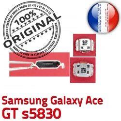 souder à Flex Dorés C Connecteur de Galaxy Dock Connector ORIGINAL Ace Micro Samsung GT charge Chargeur USB Pins s5830 Prise