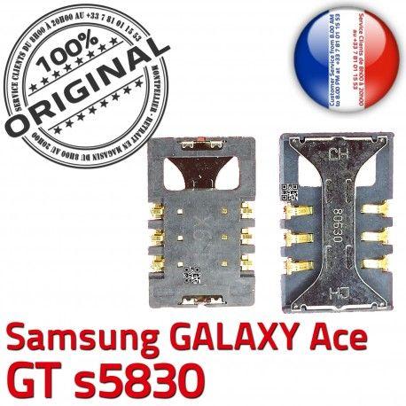 Samsung Galaxy Ace GT s5830 S SLOT SIM Reader souder Connector Card à Pins ORIGINAL Prise Dorés Carte Connecteur Lecteur Contacts