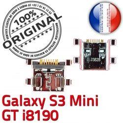 de souder Prise Flex S3 Chg Galaxy Dock à ORIGINAL GT-i8190 Connecteur Connector Pins Micro Mini Samsung USB Chargeur charge Dorés