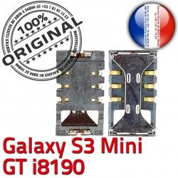GT-i8190 à Pins souder Galaxy Dorés Samsung Lecteur S3 Connecteur SLOT Mini ORIGINAL Carte SIM Connector Contacts Card Reader