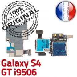 Qualité Connector Reader Memoire S Connecteur SIM Lecteur ORIGINAL GT-i9506 GT i9506 Galaxy Contacts Dorés Carte Micro-SD Nappe S4 Samsung