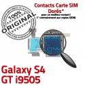Samsung Galaxy S4 GT i9505 S ORIGINAL Nappe Contacts Carte Micro-SD Dorés Lecteur Connector Memoire SIM Reader Connecteur Qualité
