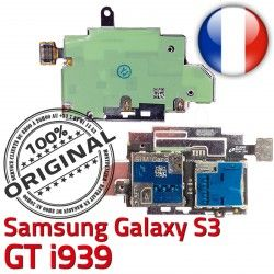 Carte Connecteur ORIGINAL GT S3 Lecteur Samsung i939 Micro-SD Nappe Contacts Dorés S Reader Memoire Connector SIM Galaxy Qualité