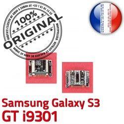 USB ORIGINAL Connector de Galaxy à Samsung souder i9301 C Connecteur GT Chargeur Pins Dorés Flex Micro S3 Prise charge Dock