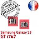 Samsung Galaxy S3 GT i747 C de Micro Dock souder à Dorés USB Pins Chargeur Prise Flex ORIGINAL Connector Connecteur charge