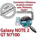 Samsung Galaxy NOTE2 GT N7100 C MicroUSB Antenne Nappe ORIGINAL RESEAU Chargeur Charge Microphone OFFICIELLE Qualité Connecteur Prise