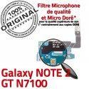 Samsung Galaxy NOTE2 GT N7100 C RESEAU OFFICIELLE Nappe Microphone Qualité Charge Antenne Chargeur MicroUSB Prise ORIGINAL Connecteur