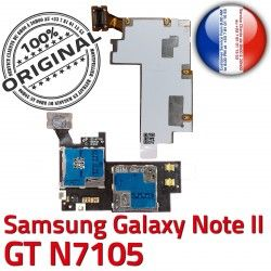 NOTE2 Memoire Doré S Galaxy GT ORIGINAL Carte Reader II N7105 Samsung Connecteur Connector SIM Nappe NOTE Micro-SD Contact Qualité Lecteur