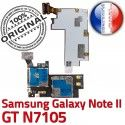 Samsung Galaxy NOTE2 GT N7105 S Doré Reader Connecteur NOTE Lecteur ORIGINAL Carte Micro-SD II Contact Nappe Connector SIM Memoire Qualité