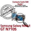 Samsung Galaxy NOTE2 GT N7105 S ORIGINAL Micro-SD Contact Connecteur Doré Qualité SIM NOTE Memoire Nappe Carte Lecteur II Reader Connector