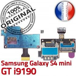 Micro-SD Memoire Nappe Galaxy min Dorés mini i9190 Reader ORIGINAL GT S4 Samsung Connector S SIM Connecteur Contacts Lecteur Carte