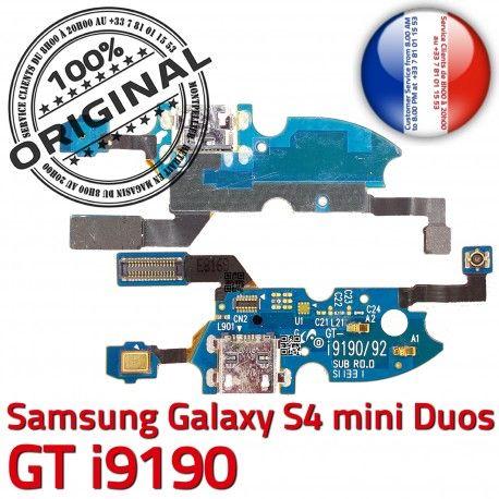 Samsung S4 Min GTi9190 C Galaxy 9190 RESEAU OFFICIELLE MicroUSB Prise Microphone Chargeur Antenne ORIGINAL Nappe Charge Connecteur Qualité GT