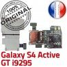 Samsung Galaxy S4 Activ i9295 S Lecteur ORIGINAL Nappe Reader Memoire Contacts Carte Qualité Dorés Connector SIM GT Micro-SD Connecteur