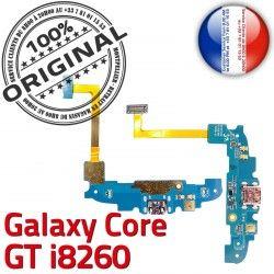 Antenne OFFICIELLE Chargeur MicroUSB GT Prise Samsung Qualité ORIGINAL Galaxy i8260 C RESEAU Connecteur Charge Microphone Core Nappe